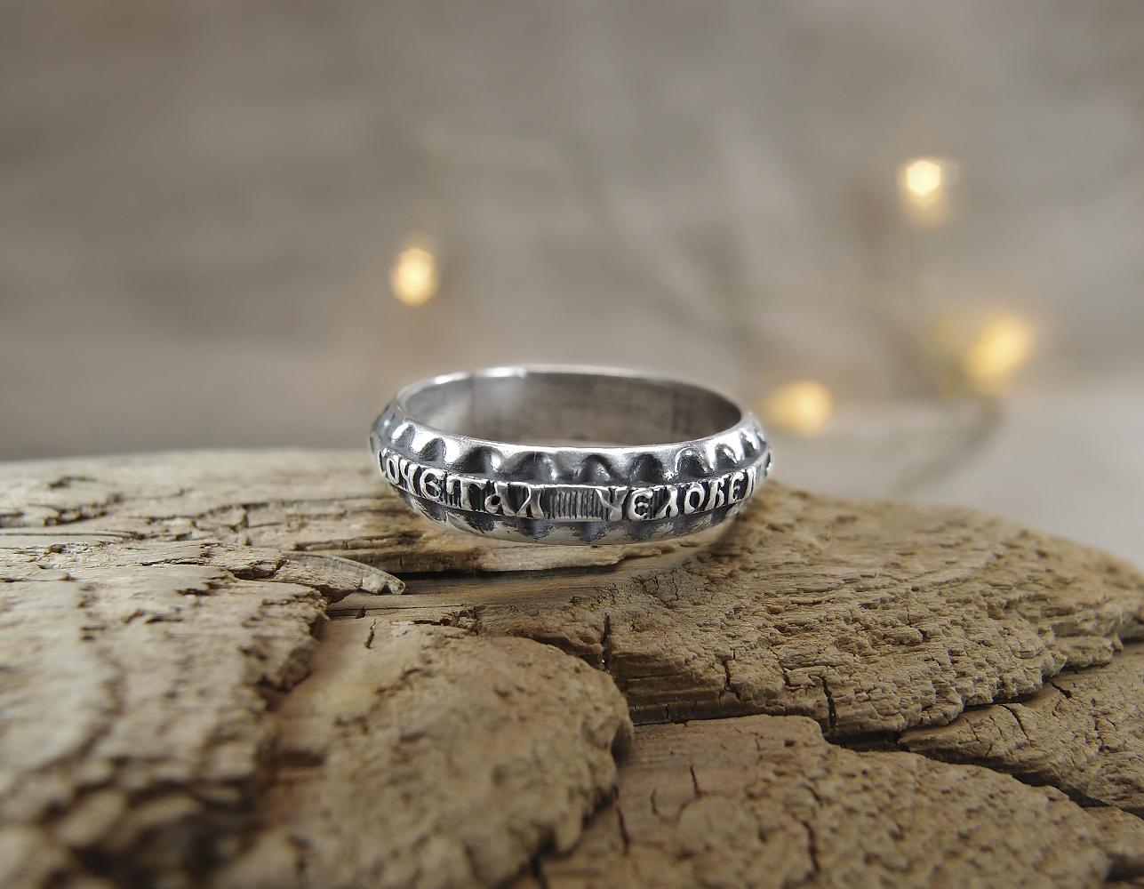 """Wedding ring """"What God has combined, let man not separate"""""""